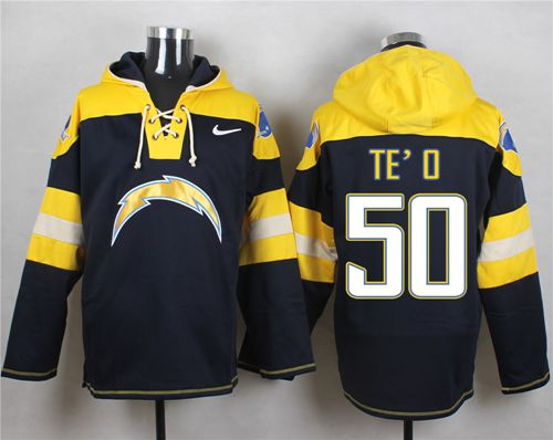 Nike Chargers #50 Manti Te'o Navy Blue Player Pullover NFL Hoodie