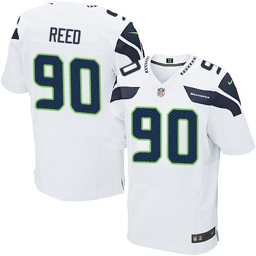 Nike Seahawks #90 Jarran Reed White Men's Stitched NFL Elite Jersey