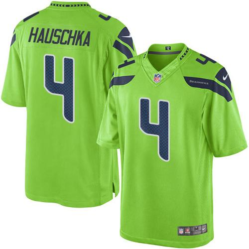Nike Seahawks #4 Steven Hauschka Green Men's Stitched NFL Limited Rush Jersey