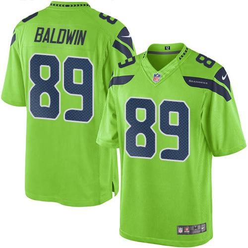 Nike Seahawks #89 Doug Baldwin Green Men's Stitched NFL Limited Rush Jersey
