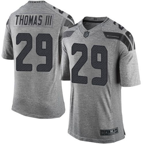 Nike Seahawks #29 Earl Thomas III Gray Men's Stitched NFL Limited Gridiron Gray Jersey