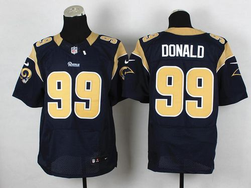 Nike Rams #99 Aaron Donald Navy Blue Team Color Men's Stitched NFL Elite Jersey