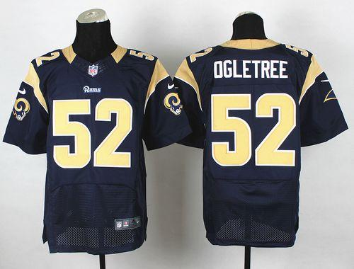 Nike Rams #52 Alec Ogletree Navy Blue Team Color Men's Stitched NFL Elite Jersey