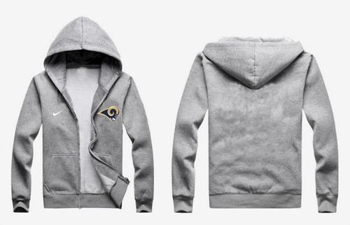 Nike St.Louis Rams Authentic Logo Hoodie Grey