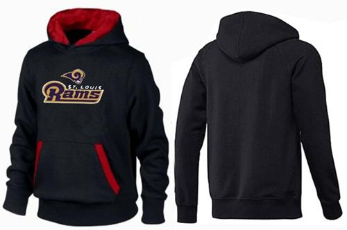 St.Louis Rams Authentic Logo Pullover Hoodie Black & Red