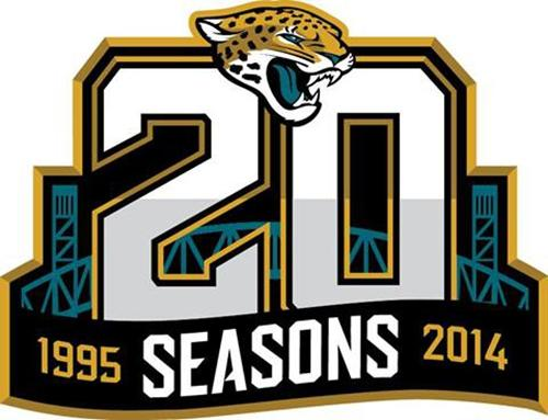 Stitched NFL Jacksonville Jaguars 1995-2014 20TH Season Jersey Patch