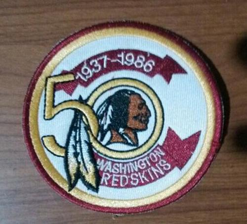 Stitched NFL Washington Redskins 1937-1986 50TH Patch