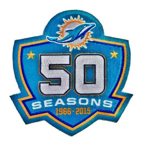 Stitched Miami Dolphins 1966-2015 50th Seasons Jersey Patch