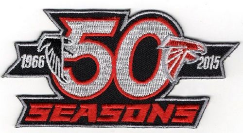 Stitched Atlanta Falcons 50th 1966-2015 Seasons Jersey Patch