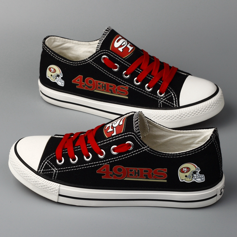 Women and Youth NFL San Francisco 49ers Repeat Print Low Top Sneakers