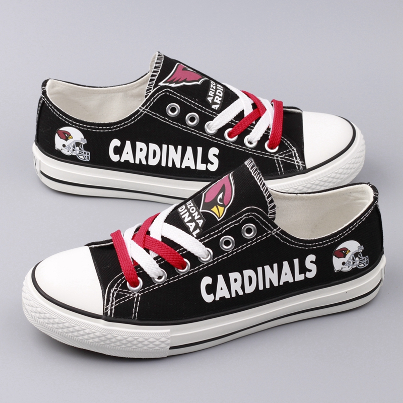 Women and Youth NFL Arizona Cardinals Repeat Print Low Top Sneakers