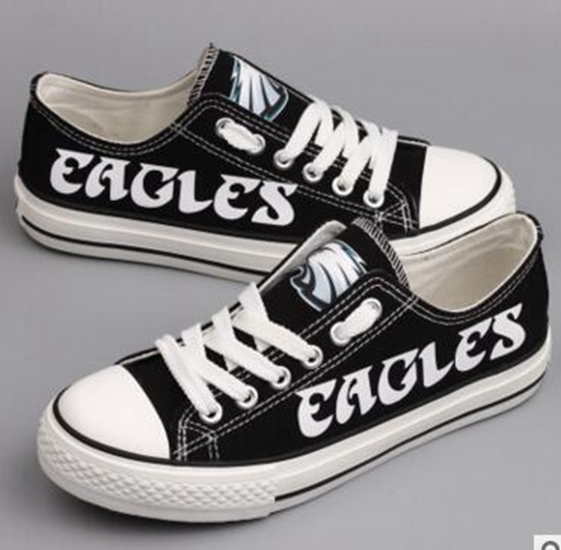 Women and Youth NFL Philadelphia Eagles Repeat Print Low Top Sneakers