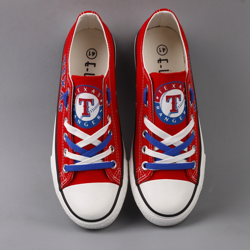 Women's MLB Texas Rangers Repeat Print Low Top Sneakers