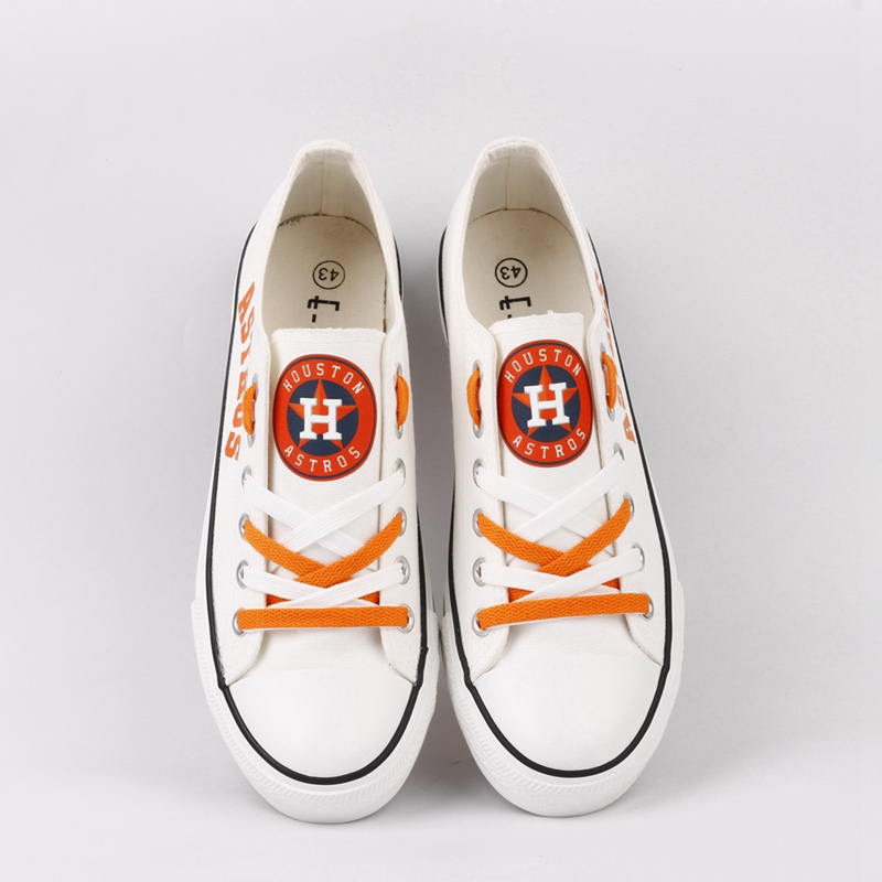Women and Youth MLB Houston Astros Repeat Print Low Top Sneakers 002