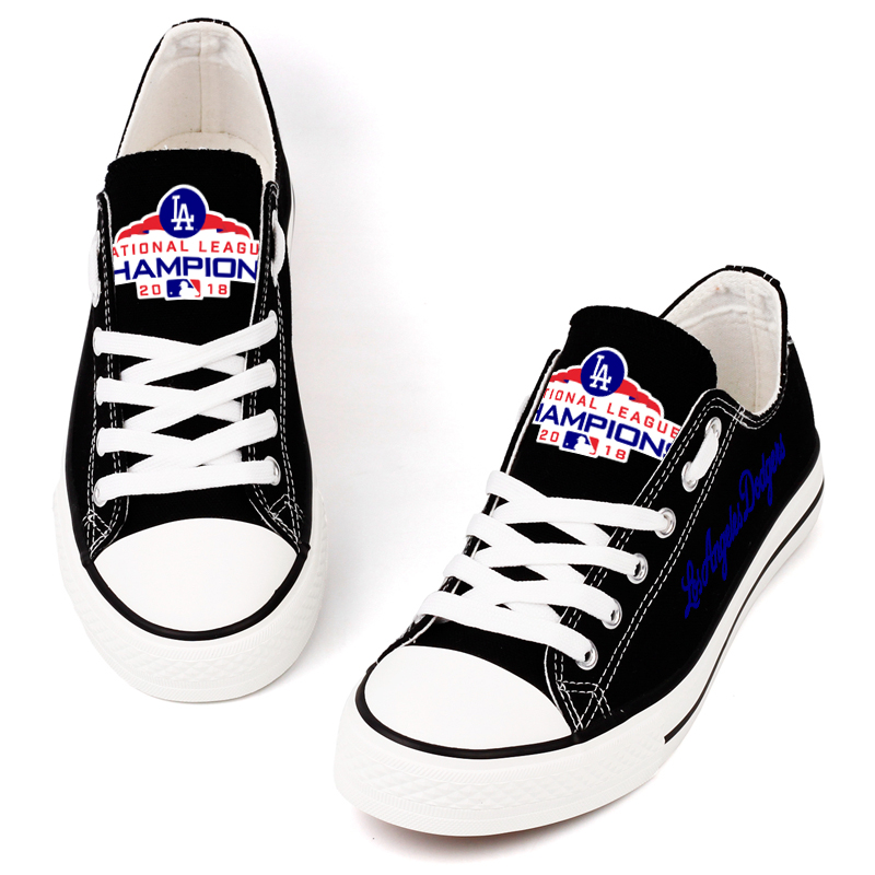Women's MLB Los Angeles Dodgers 2018 Champions Repeat Print Low Top Sneakers