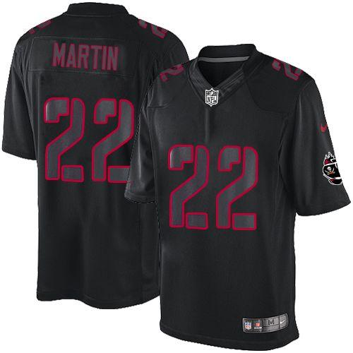 Nike Buccaneers #22 Doug Martin Black Men's Stitched NFL Impact Limited Jersey