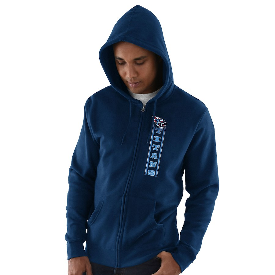 Men's Tennessee Navy Hook and Ladder Full-Zip NFL Hoodie