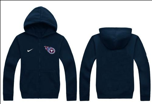 Nike Tennessee Titans Authentic Logo Hoodie Navy Blue