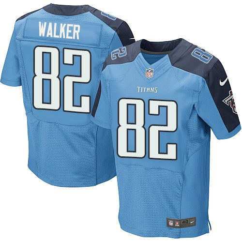 Nike Titans #82 Delanie Walker Light Blue Team Color Men's Stitched NFL Elite Jersey