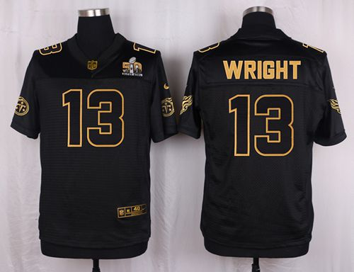 Nike Titans #13 Kendall Wright Black Men's Stitched NFL Elite Pro Line Gold Collection Jersey