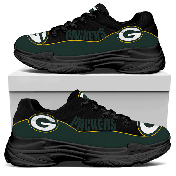 Men's Green Bay Packers Edition Chunky Sneakers With Line 001