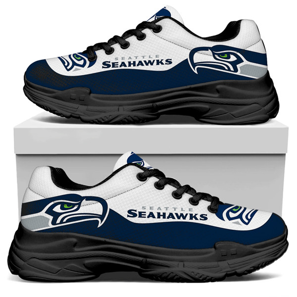 Men's Seattle Seahawks Edition Chunky Sneakers With Line 001