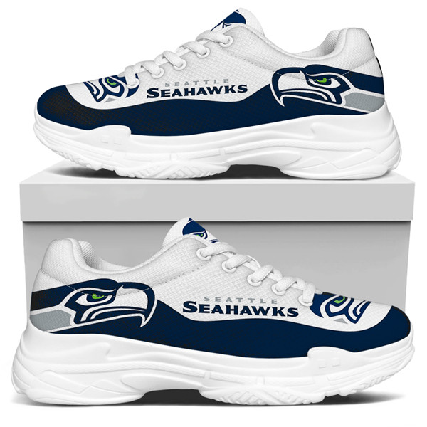 Men's Seattle Seahawks Edition Chunky Sneakers With Line 002
