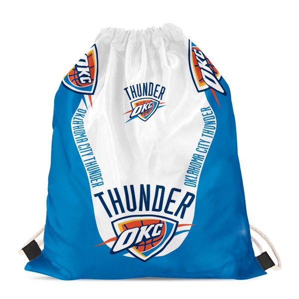 "Oklahoma City Thunder Drawstring Backpack sack / Gym bag 18"" x 14"" 001"
