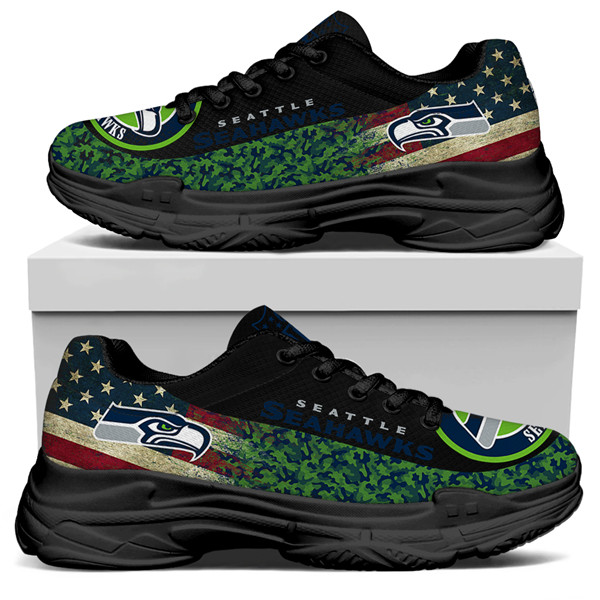 Men's Seattle Seahawks Edition Chunky Sneakers With Line 005