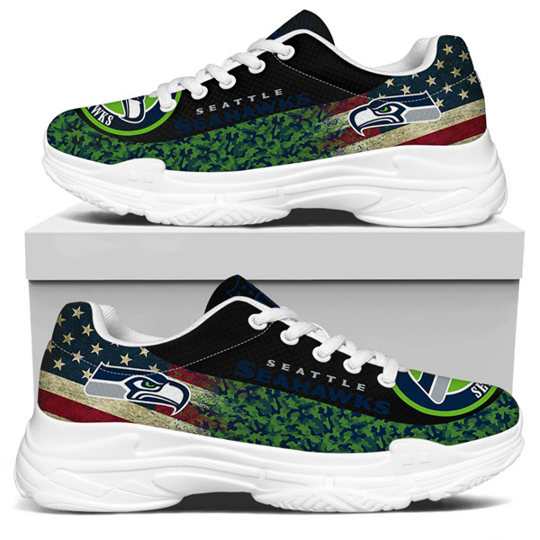 Men's Seattle Seahawks Edition Chunky Sneakers With Line 006