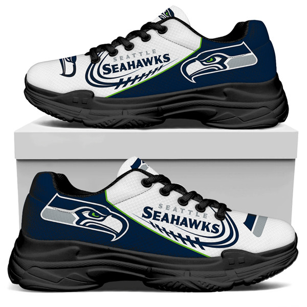 Men's Seattle Seahawks Edition Chunky Sneakers With Line 007