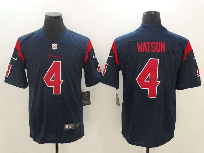 Men's Nike Houston Texans #4 Deshaun Watson Navy Vapor Untouchable Color Rush Limited Stitched NFL Jersey