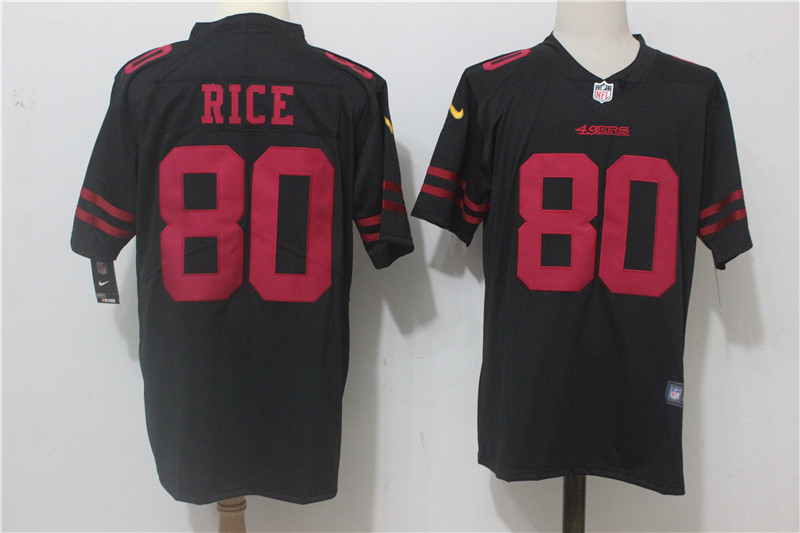 Men's Nike San Francisco 49ers #80 Jerry Rice Black Alternate Stitched NFL Vapor Untouchable Limited Jersey
