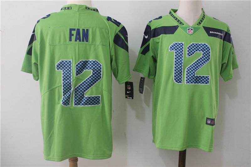 Men's Nike Seattle Seahawks #12 Fan Green Stitched NFL Vapor Untouchable Limited Jersey