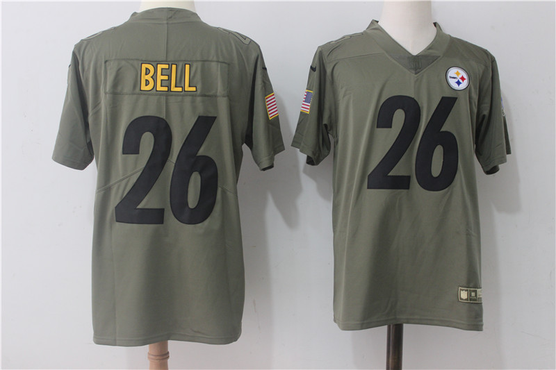Men's Nike Pittsburgh Steelers #26 Le'Veon Bell Olive Salute To Service Limited Stitched NFL Jersey