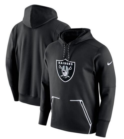 Men's Nike Oakland Raiders Black Champ Drive Vapor Speed Pullover Hoodie