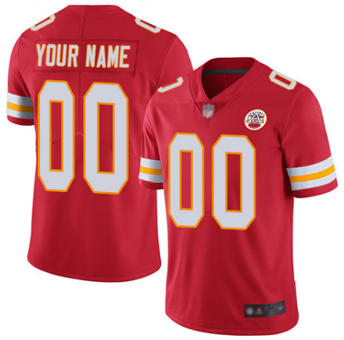 Youth Kansas City Chiefs ACTIVE PLAYER Custom Red Limited Stitched NFL Jersey