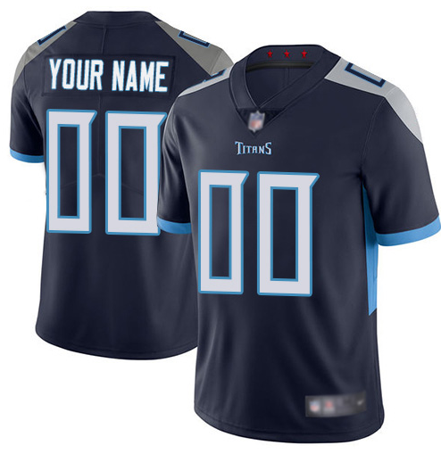 Men's Titans ACTIVE PLAYER Navy Vapor Untouchable Limited Stitched NFL Jersey