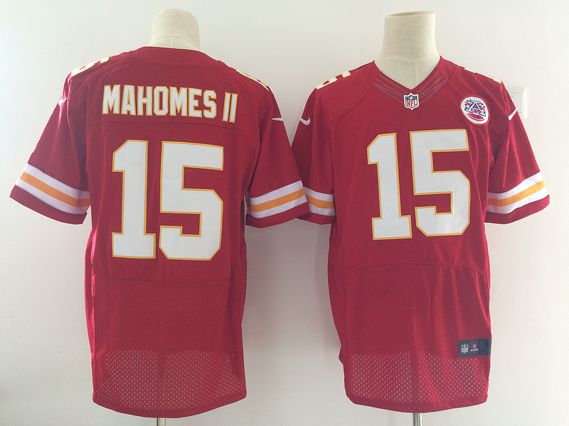 Men's Kansas City Chiefs #15 Patrick Mahomes II Nike Red 2017 Elite Stitched NFL Jersey
