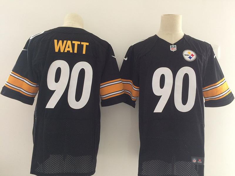 Men's Pittsburgh Steelers #90 T.J. Watt Nike Black 2017 Elite Stitched NFL Jersey