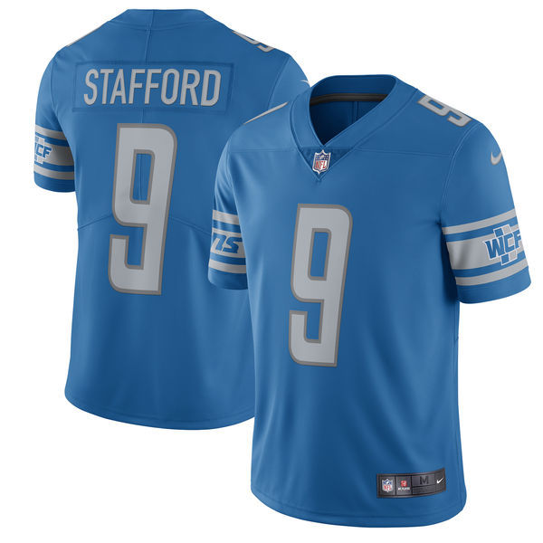 Men's Detroit Lions #9 Matthew Stafford Nike Blue 2017 Vapor Untouchable Limited Stitched NFL Jersey
