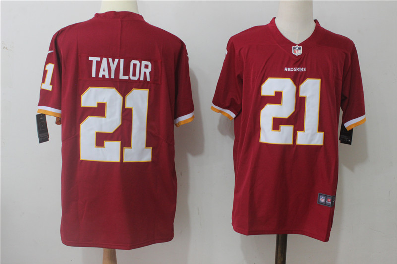 Men's Nike Washington Redskins #21 Sean Taylor Red Stitched NFL Vapor Untouchable Limited Jersey