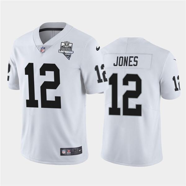 Men's Oakland Raiders White #12 Zay Jones 2020 Inaugural Season ...