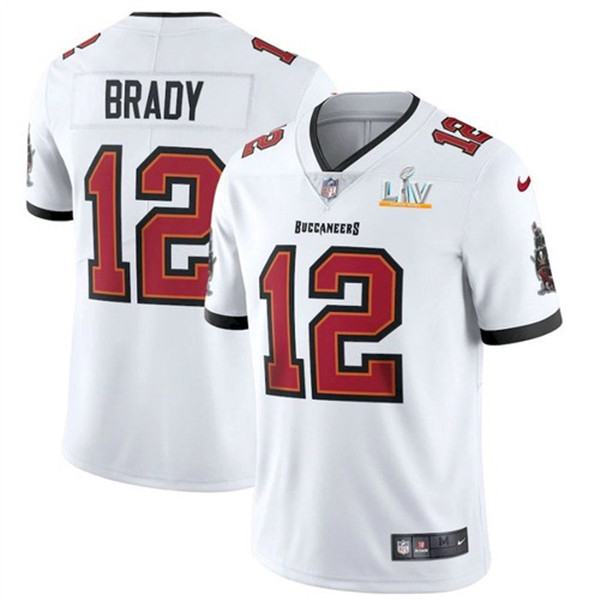 Men's Tampa Bay Buccaneers #12 Tom Brady White 2021 Super Bowl LV Limited Stitched NFL Jersey