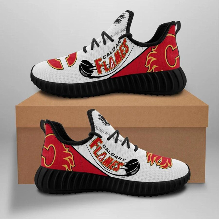 Men's NHL Calgary Flames Lightweight Running Shoes 002