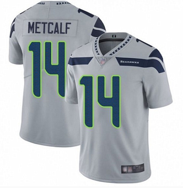 Men's Seattle Seahawks #14 D.K. Metcalf Gray Vapor Untouchable Limited Stitched NFL Jersey