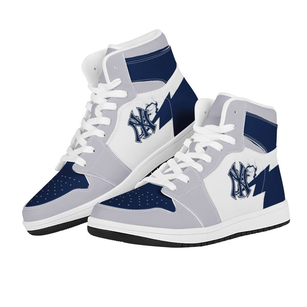 Men's New York Yankees AJ High Top Leather Sneakers 001
