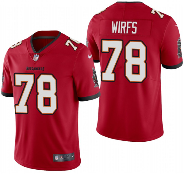 Men's Tampa Bay Buccaneers #78 Tristan Wirfs 2020 Red Vapor Untouchable Limited Stitched Jersey