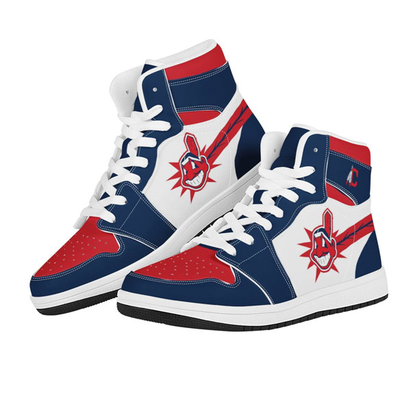 Men's Cleveland Indians AJ High Top Leather Sneakers 001
