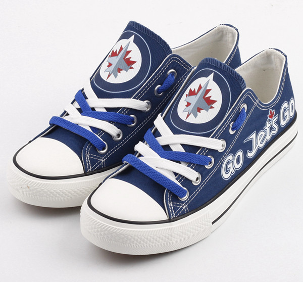 All Sizes NFL Winnipeg Jets Repeat Print Low Top Sneakers 005